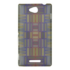 Gradient rectangles Sony Xperia C (S39H) Hardshell Case by LalyLauraFLM