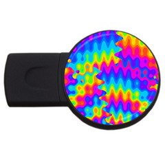 Amazing Acid Rainbow Usb Flash Drive Round (2 Gb)  by KirstenStar