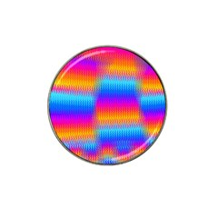 Psychedelic Rainbow Heat Waves Hat Clip Ball Marker (4 Pack) by KirstenStar