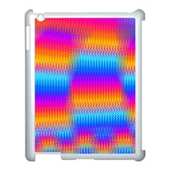 Psychedelic Rainbow Heat Waves Apple Ipad 3/4 Case (white) by KirstenStar