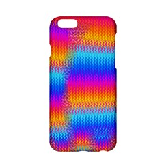 Psychedelic Rainbow Heat Waves Apple Iphone 6 Hardshell Case by KirstenStar