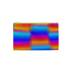 Psychedelic Rainbow Heat Waves Cosmetic Bag (xs) by KirstenStar
