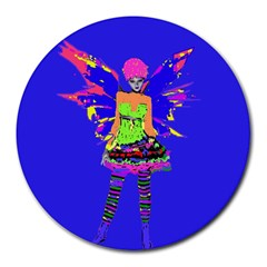 Fairy Punk Round Mousepads by icarusismartdesigns