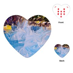 Splash 4 Playing Cards (heart)  by icarusismartdesigns