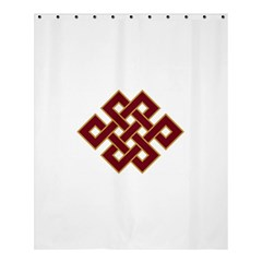 Buddhist Endless Knot Auspicious Symbol Shower Curtain 60  X 72  (medium) by CrypticFragmentsColors