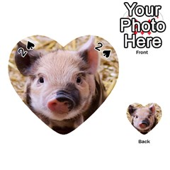 Sweet Piglet Playing Cards 54 (Heart)  by ImpressiveMoments