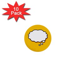 Comic Book Think 1  Mini Buttons (10 Pack)  by ComicBookPOP