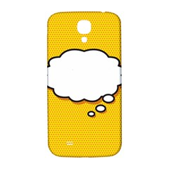 Comic Book Think Samsung Galaxy S4 I9500/I9505  Hardshell Back Case by ComicBookPOP