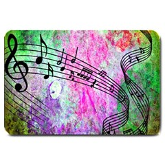 Abstract Music  Large Doormat  by ImpressiveMoments