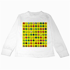 Multi Col Pills Pattern Kids Long Sleeve T-Shirts by ScienceGeek