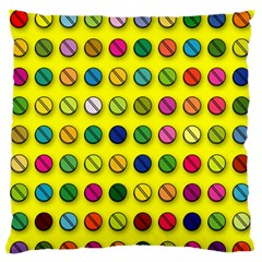 Multi Col Pills Pattern Standard Flano Cushion Cases (two Sides)  by ScienceGeek