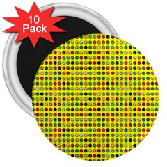 Multi Col Pills Pattern 3  Magnets (10 Pack)  by ScienceGeek