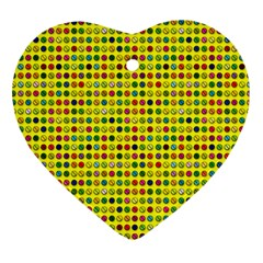 Multi Col Pills Pattern Heart Ornament (2 Sides) by ScienceGeek