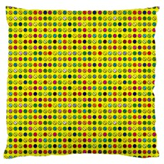 Multi Col Pills Pattern Large Cushion Cases (two Sides)  by ScienceGeek