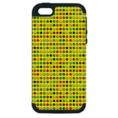 Multi Col Pills Pattern Apple Iphone 5 Hardshell Case (pc+silicone) by ScienceGeek