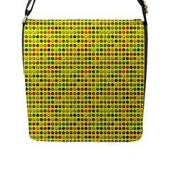 Multi Col Pills Pattern Flap Messenger Bag (l)  by ScienceGeek