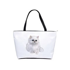 White Persian Cat Clipart Shoulder Handbags by AlteredStates