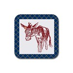 Donkey Rubber Square Coaster (4 pack)