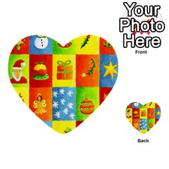 Christmas Things Multi Purpose Cards (heart)  by julienicholls