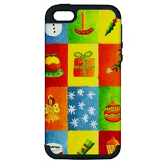Christmas Things Apple Iphone 5 Hardshell Case (pc+silicone) by julienicholls