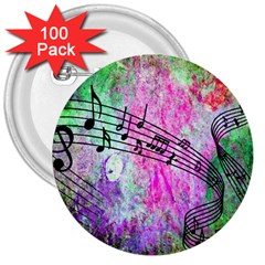 Abstract Music 2 3  Buttons (100 Pack)  by ImpressiveMoments