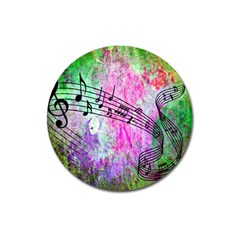 Abstract Music 2 Magnet 3  (round) by ImpressiveMoments