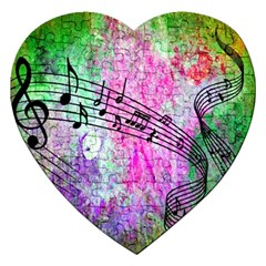 Abstract Music 2 Jigsaw Puzzle (heart) by ImpressiveMoments