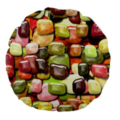Stones 001 Large 18  Premium Round Cushions by ImpressiveMoments
