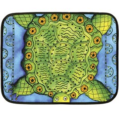 Turtle Fleece Blanket (Mini) by julienicholls