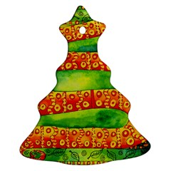 Patterned Snake Christmas Tree Ornament (2 Sides) by julienicholls