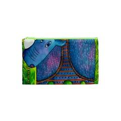Patterned Rhino Cosmetic Bag (xs) by julienicholls