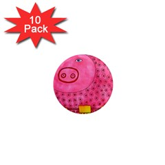Patterned Pig 1  Mini Magnet (10 Pack)  by julienicholls