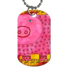 Patterned Pig Dog Tag (two Sides) by julienicholls