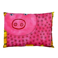 Patterned Pig Pillow Cases (two Sides) by julienicholls