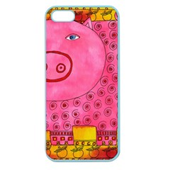 Patterned Pig Apple Seamless iPhone 5 Case (Color) by julienicholls