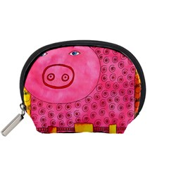 Patterned Pig Accessory Pouches (small)  by julienicholls