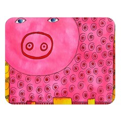 Patterned Pig Double Sided Flano Blanket (large)  by julienicholls