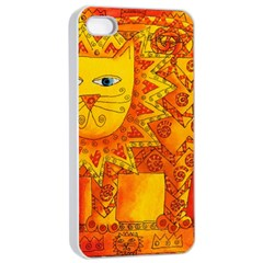 Patterned Lion Apple Iphone 4/4s Seamless Case (white) by julienicholls