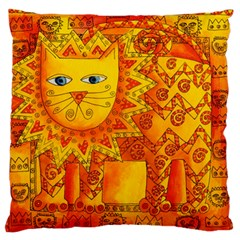 Patterned Lion Standard Flano Cushion Cases (one Side)  by julienicholls
