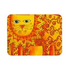 Patterned Lion Double Sided Flano Blanket (mini)  by julienicholls