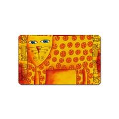 Patterned Leopard Magnet (Name Card) by julienicholls