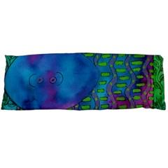 Patterned Hippo Body Pillow Cases (dakimakura)  by julienicholls