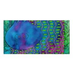 Patterned Hippo Satin Shawl by julienicholls