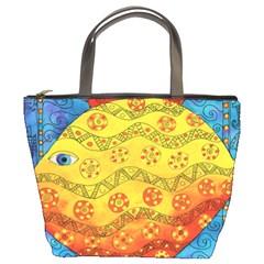 Patterned Fish Bucket Bags by julienicholls
