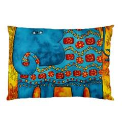Patterned Elephant Pillow Cases by julienicholls