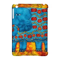 Patterned Elephant Apple iPad Mini Hardshell Case (Compatible with Smart Cover) by julienicholls