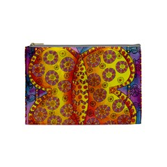 Patterned Butterfly Cosmetic Bag (Medium)  by julienicholls