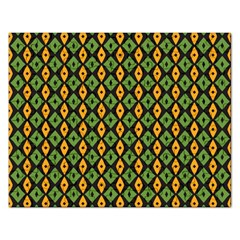 Green Yellow Rhombus Pattern Jigsaw Puzzle (rectangular) by LalyLauraFLM