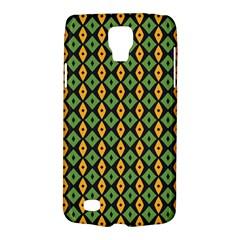 Green Yellow Rhombus Pattern Samsung Galaxy S4 Active (i9295) Hardshell Case by LalyLauraFLM