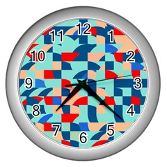 Miscellaneous Shapes Wall Clock (silver) by LalyLauraFLM